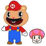 Mario Happy Tree Friend Suit by Twirlerena
