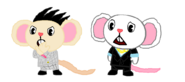 Spike and Whitey in HTF style