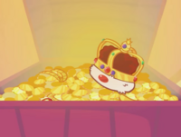 Treasure chest crown and gems