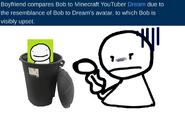 Bob dislikes being called dream