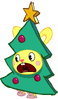 Cuddles as the Christmas Tree