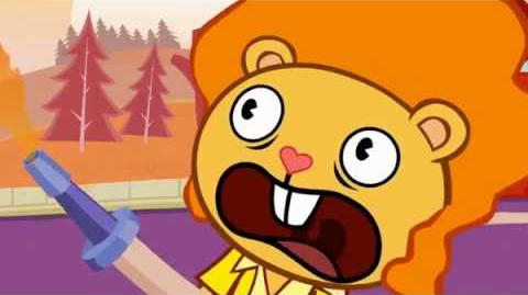 "Disco Bear's scream from ""Doggone It"" is reused in many Happy Tree Friends episodes."