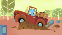 S3E2 Truck on grave