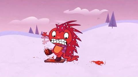 "Flaky's whimper from ""Ski Ya, Wouldn't Wanna Be Ya!"" reused in ""From A to Zoo""."