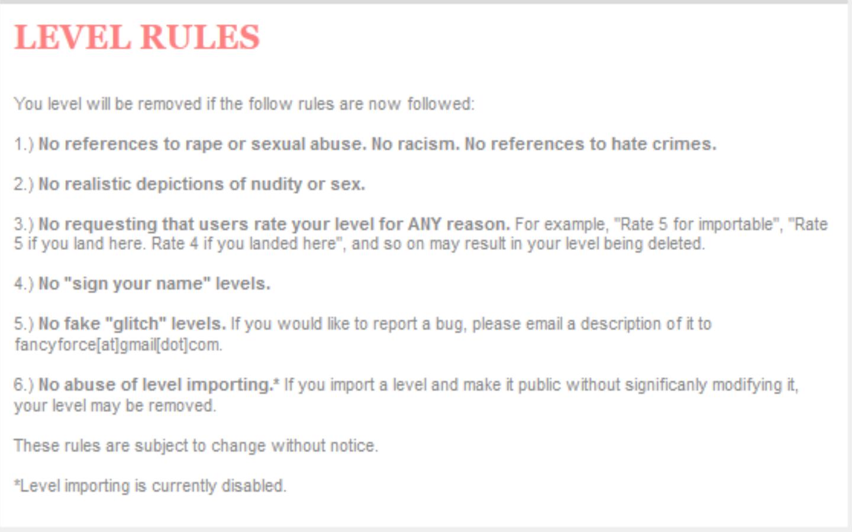 Level Rules