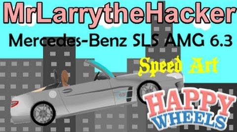 Happy Wheels Speed Drawings- Mercedes-Benz SLS AMG Roadster 6