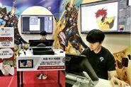 Kim Sehoon doing a live demonstration sketch of the rank no.1 Hardcore Leveling Warrior in Wacom 2018 (South Korean Comic Con)