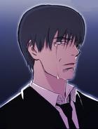 Lee Ji-Hoon (The Best Swordsman) crying at Armes' funeral (Season 2 Episode 104)