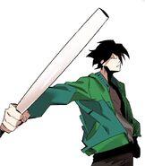 Akira (flashback) with his bat (Season 2 Episode 85)