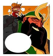 Guan Yu holding a Yopi Grilled Skewer (Episode 2)