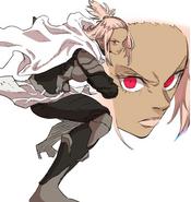 Cocomori in her Battōjutsu stance (Episode 133)