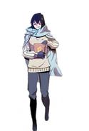 Sora with a bag of bungeo-ppang in Dark Land (Season 2 Episode 91)