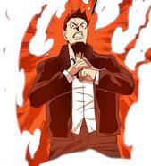 Taek telling Akira to bring it (Season 2 Episode 85)