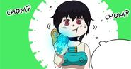 Sora eating a skill stone (Episode 68)