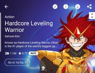 10.04.21 Hardcore Leveling Warrior LINE Webtoon mobile background