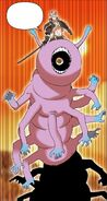 Nightmare Master Swordsman on a Caterpillar like monster