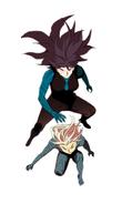 Sora and Ego confronting Nightmare Sora (Season 2 Episode 91)