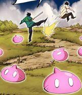 Akira kicking Yopy off his hunting ground (Season 2 Episode 86)