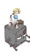 Armes sitting on Kkakdugi's without his Stone Golem armour (Episode 53)