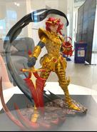 Hardcore Leveling Warrior figure given to Kim Sehoon by Superplanet and Hardcore Leveling Warrior with Naver Webtoon