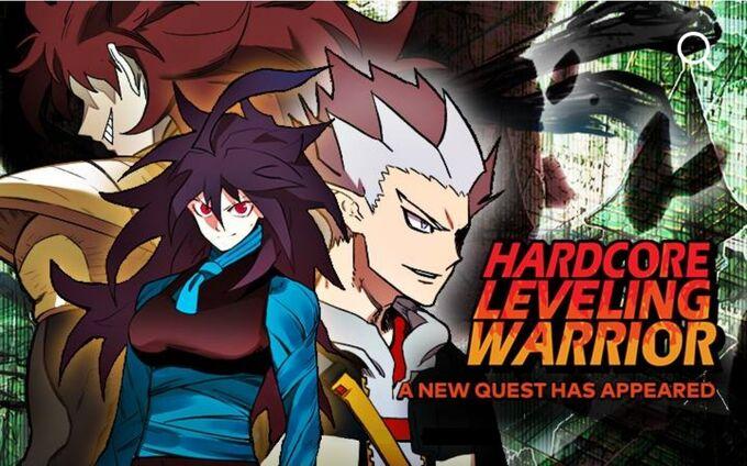 Hardcore Leveling Warrior LINE Webtoon mobile promo poster December 2020 (edited).jpg
