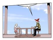 God of Combat chatting with Choco Bibi over strawberry cakes (Episode 95).jpg