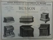 Publicité Busson