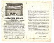 Publicité Alexandre debain