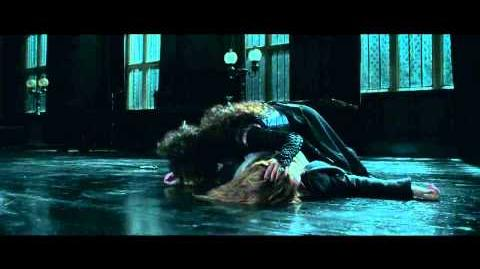 Hermione being Tortured by Bellatrix in Harry Potter and the Deathly Hallows Part 1