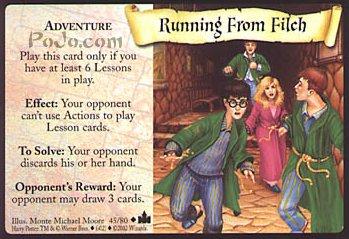 Running from Filch