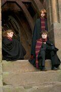 GOF promo Trio on castle steps