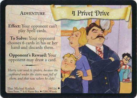 4 Privet Drive (Trading Card)