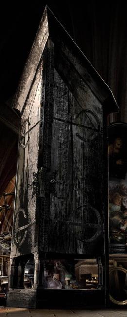 Hogwarts-Borgin and Burkes Vanishing Cabinet pair