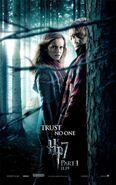 409px-Harry Potter and the Deathly Hallows Part I Teaser One Sheet Movie Poster - Trust No One - Emma Watson as Hermione Granger & Rupert Grint as Ron Weasley