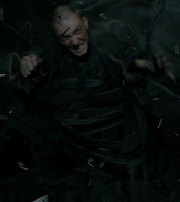 Unidentified Death Eater killed by Kingsley Shacklebolt