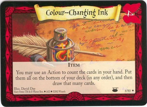 Atrament zmieniający kolor (karta)