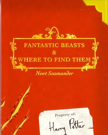 Fantastic Beasts And Where To Find Them Companion Book Harry Potter Wiki Fandom