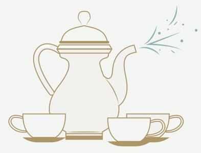 Bewitched tea set