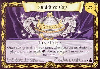 Quidditch Cup (Trading Card)
