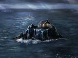 礁石上的小屋