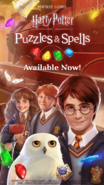 HP Puzzles & Spells Banner - mobile version