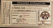 Prisoner Extradition Form