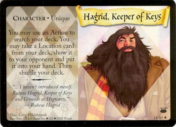 Hagrid, strażnik kluczy (karta)