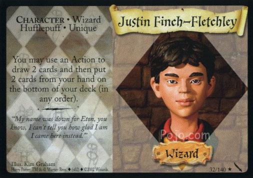 Justyn Finch–Fletchley (karta)
