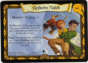 Mecz ze Slytherinem (karta)