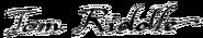 Tom Riddle firma