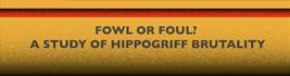 Seigneur ou saigneur ? Essai sur la brutalité des hippogriffes