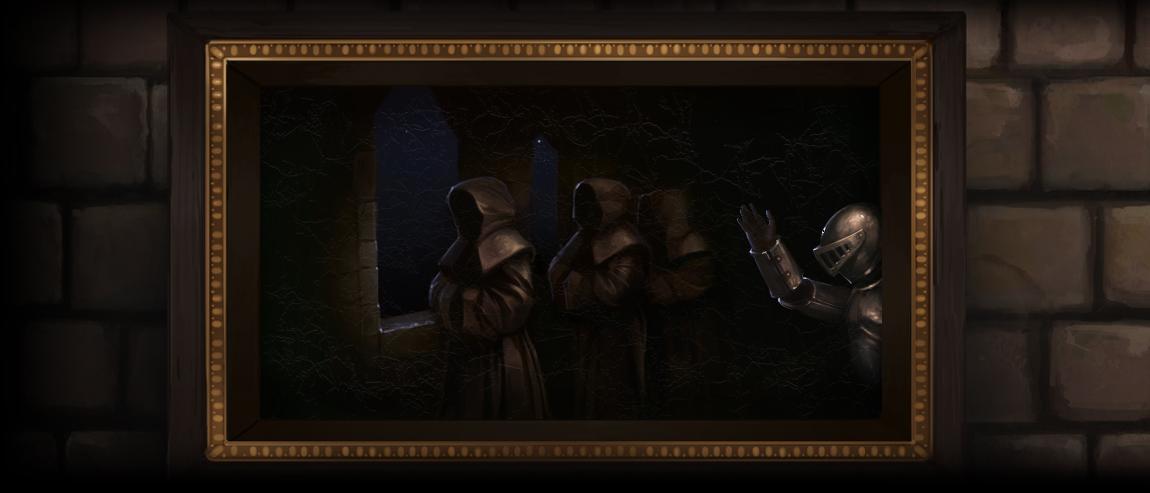 阴险僧侣图