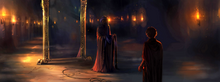B1C17M1 Quirrell and Harry by the Mirror of Erised.png