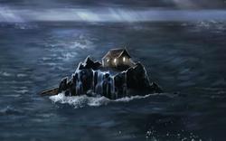Casebre sobre o rochedo
